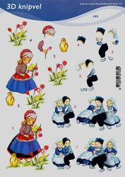 Voorbeeldkaarten klederdracht A5 nr. 185 (Locatie: 4324)