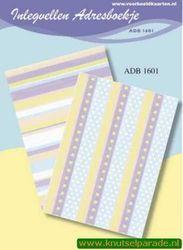 Inlegvellen adresboekje ADB 1601 (Locatie: D39 )
