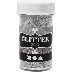 Glitter, zilver 20 gram (Locatie: K3)