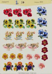 't Boekensteuntje knipvel bloemen 0035 (Locatie: 5919)