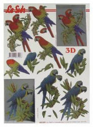 Le Suh stansvel papegaai metallic 600009 (Locatie: 2652)