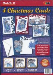 Doodey kaartenpakket om 4 kerstkaarten te maken ZV90177 (Locatie: 4429)