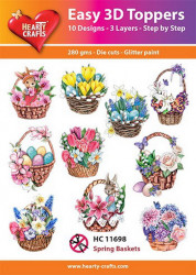 Hearty Crafts Easy 3D Toppers Spring Baskets HC11698 (Locatie: K2)