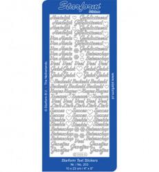 Starform stickervel div. teksten goud 203 (Locatie: f114)