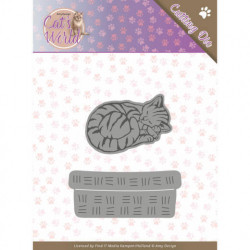 Amy Design snijmal Sleeping Cat ADD10188 (Locatie: M036)