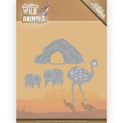 Amy Design snijmal Wild Animals - Emu and Wombat ADD10207 (Locatie: M050)