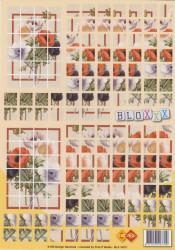 Card deco knipvel bloemen bloxxx BLX10011 (Locatie: 0528)