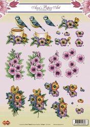 Card Deco knipvel bloemen CD 10160 (Locatie: 4427)