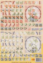 Card Deco knipvel bloxxx bloemen BLX 10004 (Locatie: 2767)