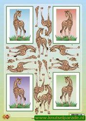 Card Deco knipvel giraffe HJ 6601 (Locatie: 1307)