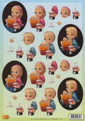 Card Deco knipvel jongen/ meisje CD 10060 (Locatie: 0421)