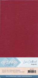 Card Deco linnen karton 13.5 x 27 cm bordeaux, 10 stuks LKK-4K14