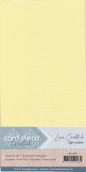 Card Deco linnen karton 13.5 x 27 cm lichtgeel 10 stuks