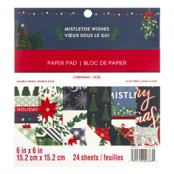 Craft Smith Mistletoe Wishes, 15.2 x 15.2 cm, Paper Pad (Locatie: s2)