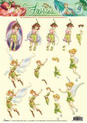 Disney Fairies - 3DA4 Stap voor Stap Knipvel STAPDF09 (Locatie: 1740)