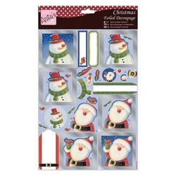 Docraft's Anita's stansvel Santa & Snowman ANT169590 (Locatie: grve)
