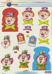 Doe Maar knipvel clown nr. 11055-312 (Locatie: 1140)