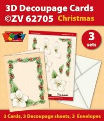 Doodey kaartenpakket om 3 kerstkaarten te maken ZV62705 (Locatie: 4419)