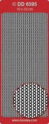 Doodey Stickers randje Parels Lila DD6595 (Locatie: A192)