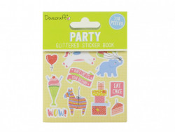 Dovecraft Party glitter sticker boek, 8 vel (Locatie: h448)