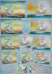 Dufex Metallic knipvel pyramid zeilboot 11178736 (Locatie: 6241)