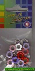 Eyelets bloemen assortiment 25 stuks nr. 20408/99 (Locatie: 5RC1 )