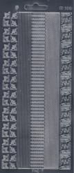Find It stickervel glanzend zilver CD3061 (Locatie: j563)