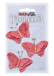 Florella, vlinders, 3 stuks, 3866097