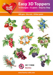 Hearty Crafts Easy 3D Toppers Berries HC11908 (Locatie: K2)