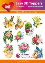 Hearty Crafts Easy 3D Toppers Spring Feelings HC10567 (Locatie: K2)