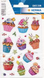 Herma stickers cupcakes glitter 2 vel 3387 (Locatie: U176)