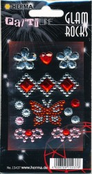 Herma stickers Glam Rocks vlinder 1 vel 15437 (Locatie: HE022)