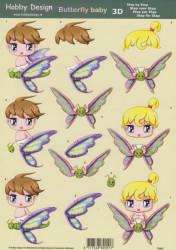 Hobby Design knipvel Butterfly baby 73047 (Locatie: 2666)