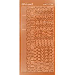 Hobbydots stickervel glanzend koper STDM12B (Locatie: N258)