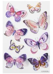 Hobbyfun 3D sticker vlinder roze (Locatie: 1627)