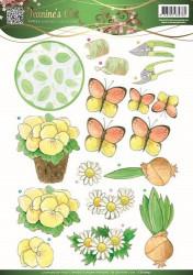 Jeanine's Art knipvel bloemen en vlinders CD10832 (Locatie: 4642)