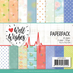 Jeanine's Art, Paperpack, 15,2 x 15,2 cm, Well Wishes, JAPP10014