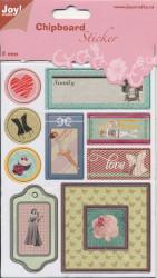 Joy! Chipboard stickers 2 mm. dik 6013/1455 (Locatie: 1469)