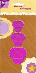 Joy! Crafts snij- en embosmal papierbol 3 stuks 6002/0105 (Locatie: I551)