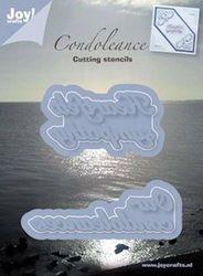 Joy! snijstencil condoleance 6002/0241 (Locatie: i592)