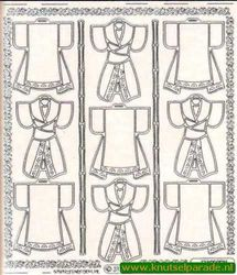 Kimonos scrapbook sticker zilver 3117 (Locatie: 6140)