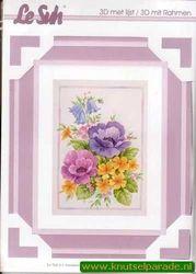Le Suh 3D schilderij met lijst Anemoon 4135004 (Locatie: 2437)