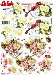 Le Suh knipvel bloemen/ muziek 8215660 (Locatie: 5819)