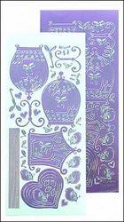 LeCrea Design vogelkooi sticker blauw 61 8725 (Locatie: A331 )