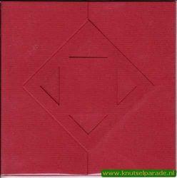 Lomiacd kaart rood zigzag met ruit 3 stuks LC3142 (Locatie: Y043 )