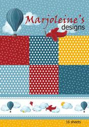 Marjoleine's Designs A4 boek Design papier 16 vellen (Locatie: 1RB3)
