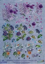 Metallic knipvel bloemen nr. 111742115 (Locatie: 4505)