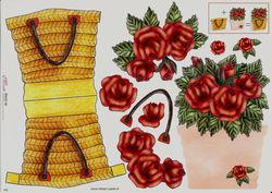 Mireille knipvel bloemenmandje 043 (Locatie: 1468)