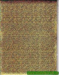 Multi dots sticker holografisch goud met bloemen (Locatie: 6852)