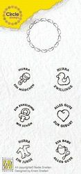 Nellie Circle Clear Stamps German texts - Baby CCSB003 (Locatie: i609 )